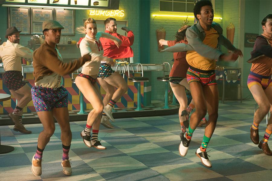 Dancing patrons