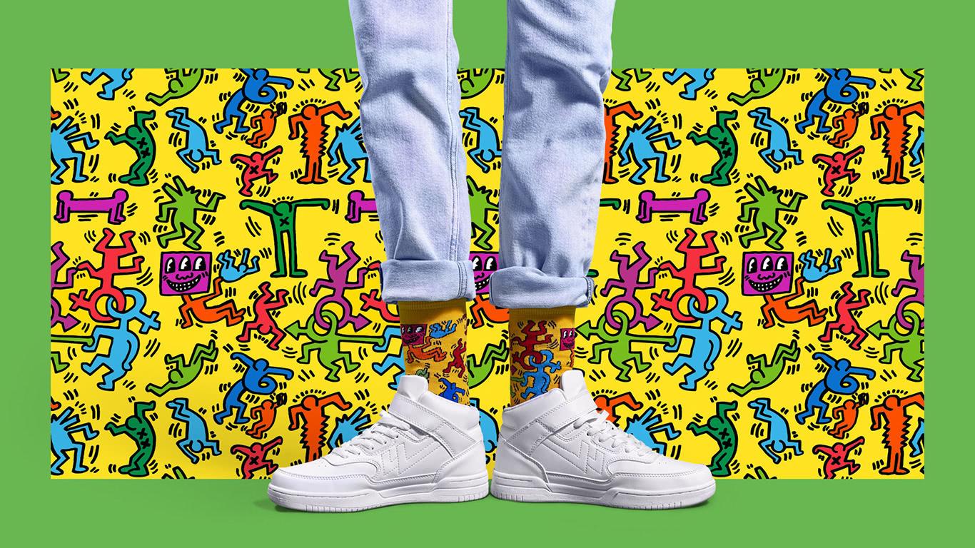 Share Happy Socks X Keith Haring